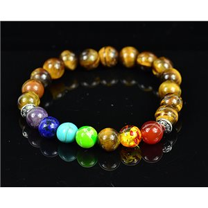 Bracelet Porte Bonheur 7 Chakras en Pierres naturelles New Collection 75789