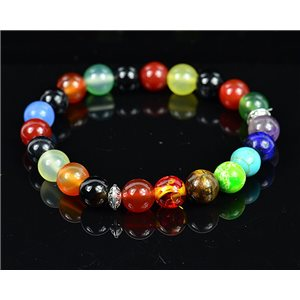 Bracelet Porte Bonheur 7 Chakras en Pierres naturelles New Collection 75792