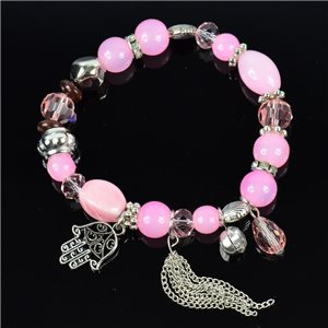Bracelet CYBELE Jewelry Bead Charms on Elastic Wire New Collection 76133