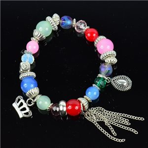 Bracelet CYBELE Jewelry Bead Charms on Elastic Wire New Collection 76141
