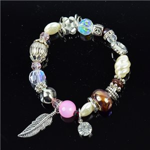 Bracelet CYBELE Jewelry Bead Charms on Elastic Wire New Collection 76142