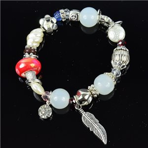 Bracelet CYBELE Jewelry Bead Charms on elastic thread New Collection 76147