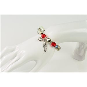 Bracelet CYBELE Bijoux Bead Charms sur fil élastic New Collection 76148