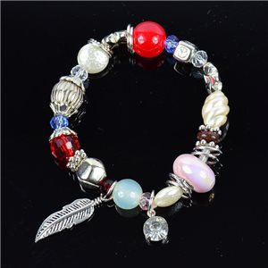 Bracelet CYBELE Jewelry Bead Charms on elastic thread New Collection 76149