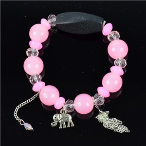 Bracelet CYBELE Jewelry Bead Charms on elastic thread New Collection 76151
