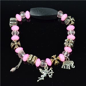 Bracelet CYBELE Jewelry Bead Charms on elastic thread New Collection 76152