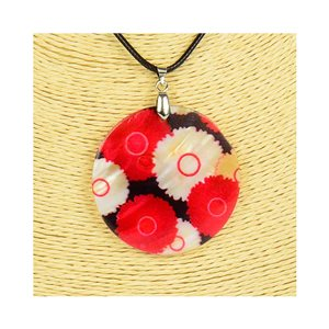 Collier Pendentif 5cm en Nacre naturelle Fashion Design L48cm New Collection 76201