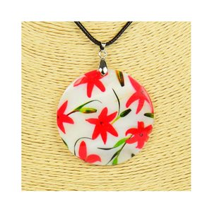 Collier Pendentif 5cm en Nacre naturelle Fashion Design L48cm New Collection 76205