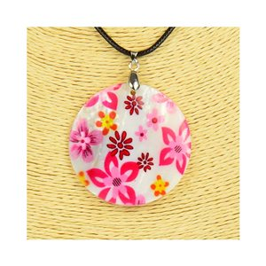 Collier Pendentif 5cm en Nacre naturelle Fashion Design L48cm New Collection 76208