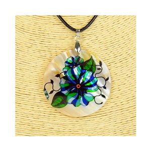 Pendant necklace 5 cm Natural Mother of Pearl Fashion Design L48cm New Collection 76215