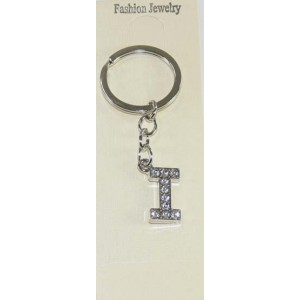 Keychain Letter I Strass 20mm 39250