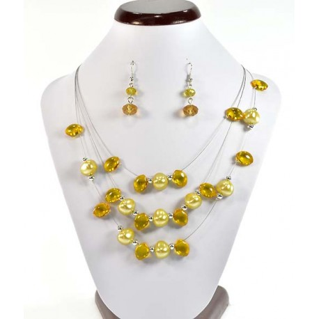 Suspension finery 3 Rank Beads and Jewelry 58189