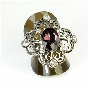 Rhinestones Adjustable Ring New Style Full Rhinestone 65959