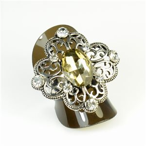 Rhinestones Adjustable Ring New Style Full Rhinestone 65960
