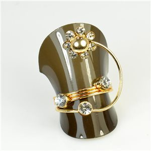 Rhinestones Ring T52 / 54 66660 Zirconia Fashion Creation