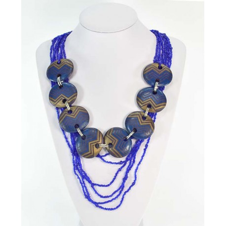 Necklace Necklace Wood decoration on wire beads 58665