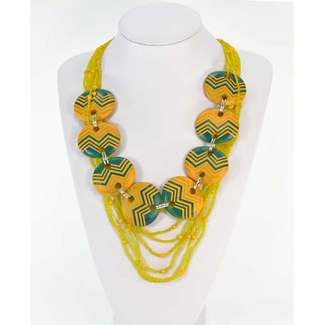 Necklace Necklace Wood decoration on wire beads 58668
