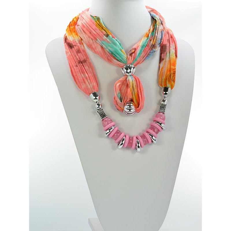 Scarf Necklace Jewelry Polyester Spring Summer Collection 2016 68444 3w Import