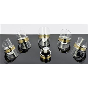 6 Man Rings Stainless Steel 6 sizes (56 to 73) New Design 68668