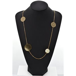 Long Necklace Spring Summer Collection Fashion Watermark GOLD 2016 68813