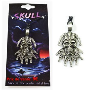 pewter pendant cord Skull Collection 68113