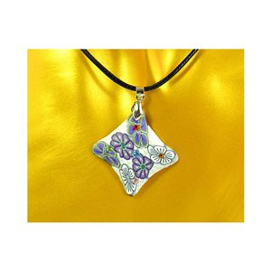 Necklace pendant with his pate Polymer New Spring Collection 65724