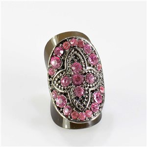 Bague Strass réglable Full Strass SILVER Vintage Collection 67611