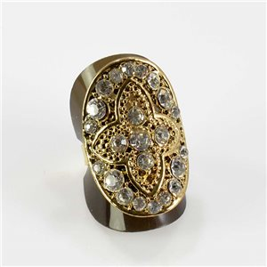 Bague Strass réglable Full Strass GOLD Vintage Collection 67618