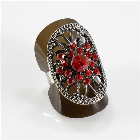 Bague Strass réglable Full Strass SILVER Vintage Collection 67664