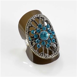 Bague Strass réglable Full Strass SILVER Vintage Collection 67668