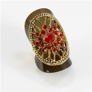 Bague Strass réglable Full Strass GOLD Vintage Collection 67673