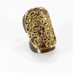 Bague Strass réglable Full Strass GOLD Vintage Collection 67760