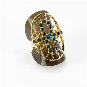 Bague Strass réglable Full Strass GOLD Vintage Collection 67777