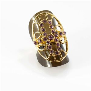 Bague Strass réglable Full Strass GOLD Vintage Collection 67778