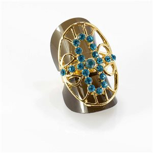 Bague Strass réglable Full Strass GOLD Vintage Collection 67779