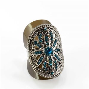 Bague Strass réglable Full Strass SILVER Vintage Collection 67822