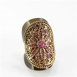 Bague Strass réglable Full Strass GOLD Vintage Collection 67830