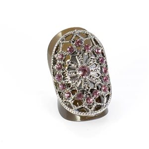 Bague Strass réglable Full Strass SILVER Vintage Collection 67859