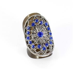 Bague Strass réglable Full Strass SILVER Vintage Collection 67862
