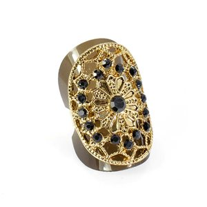 Bague Strass réglable Full Strass GOLD Vintage Collection 67863