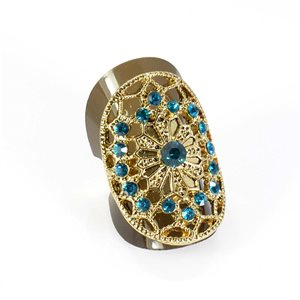 Bague Strass réglable Full Strass GOLD Vintage Collection 67867
