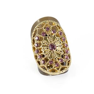Bague Strass réglable Full Strass GOLD Vintage Collection 67868