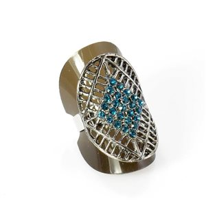 Bague Strass réglable Full Strass SILVER Vintage Collection 67930