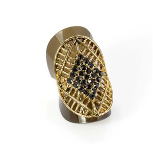 Adjustable Rhinestone Ring Full Rhinestone GOLD Vintage Collection 67935