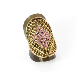 Bague Strass réglable Full Strass GOLD Vintage Collection 67938