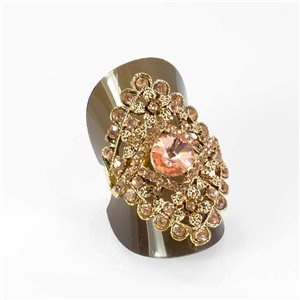 Adjustable Rhinestone Ring Full Rhinestone GOLD Vintage Collection 67960
