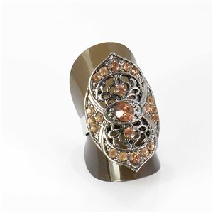 Bague Strass réglable Full Strass SILVER Vintage Collection 67969