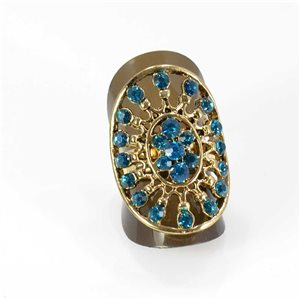 Bague Strass réglable Full Strass GOLD Vintage Collection 67993