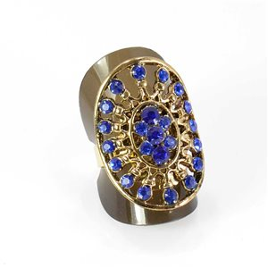 Adjustable Rhinestone Ring Full Rhinestone GOLD Vintage Collection 67997