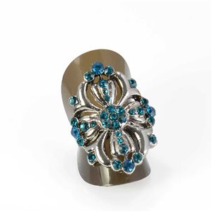 Adjustable Rhinestone Ring Full Rhinestone Vintage Collection SILVER 68020